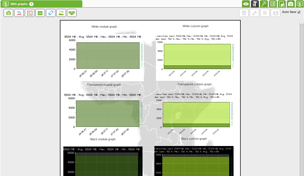 Custom graphs background