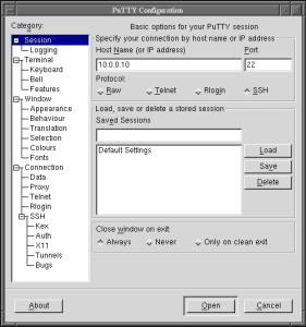 Herramientas para redes Putty