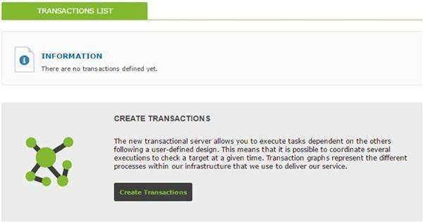 transactional monitoring list