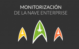 La monitorización de la nave Enterprise de Star Trek
