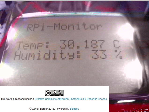 RPi monitor that shows temperature and humid