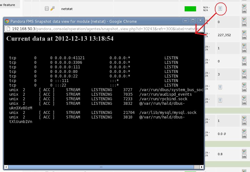 Pandora FMS: command capture monitoring