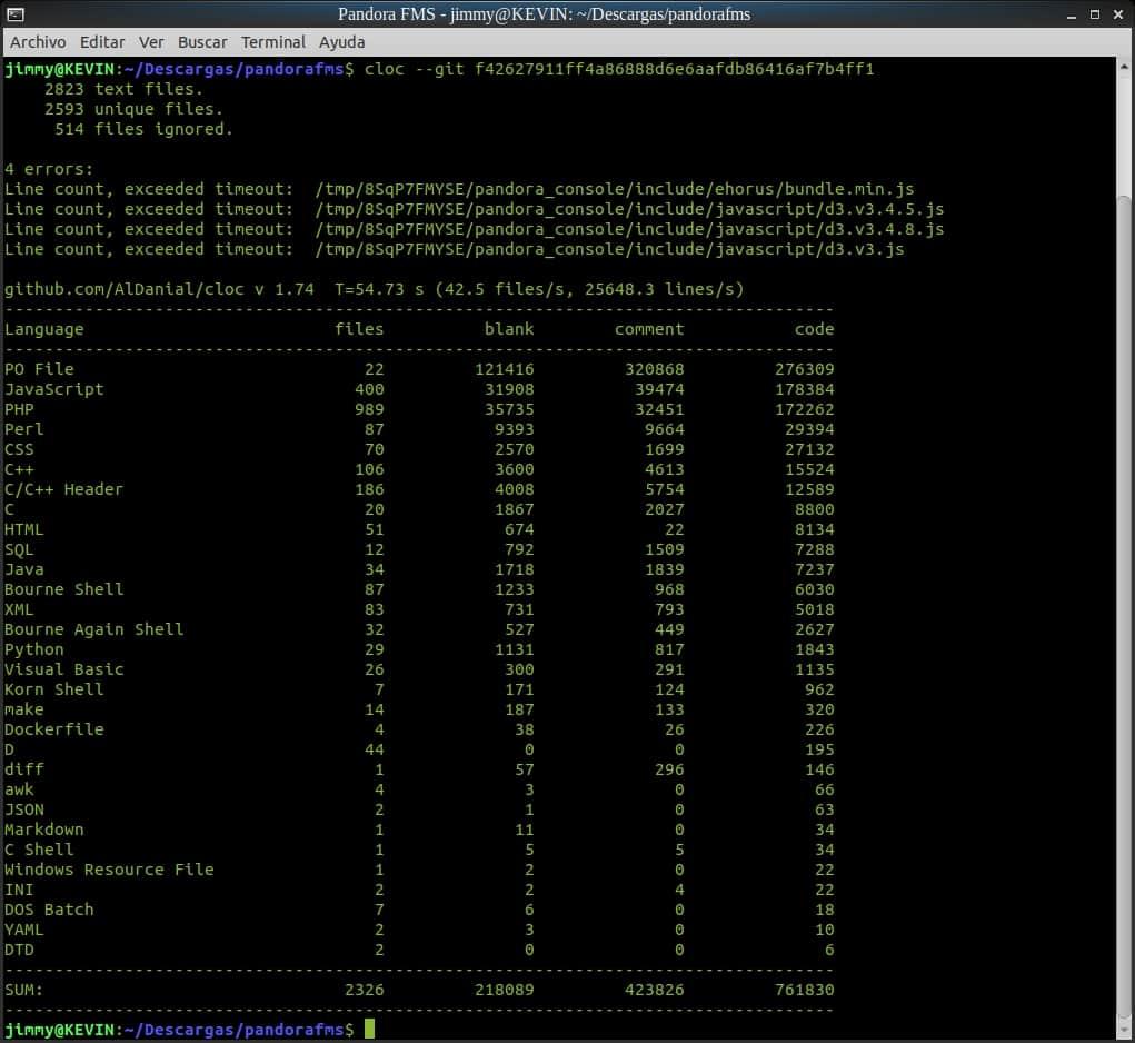 Contador de líneas de código