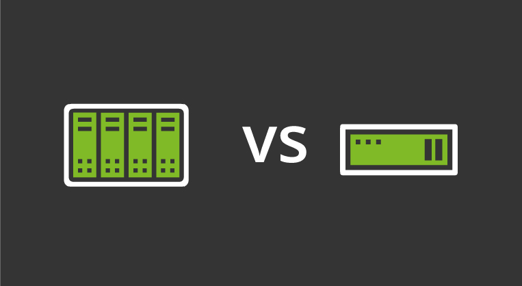 difference between blade and rack server