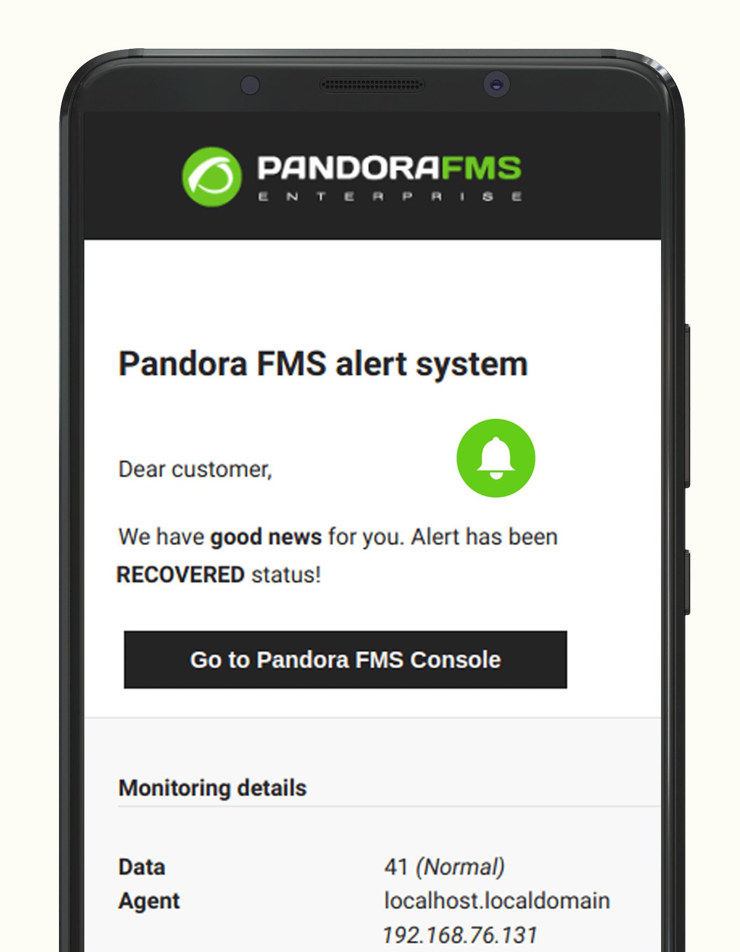 monitoring system mockup mobile - Monitoring system