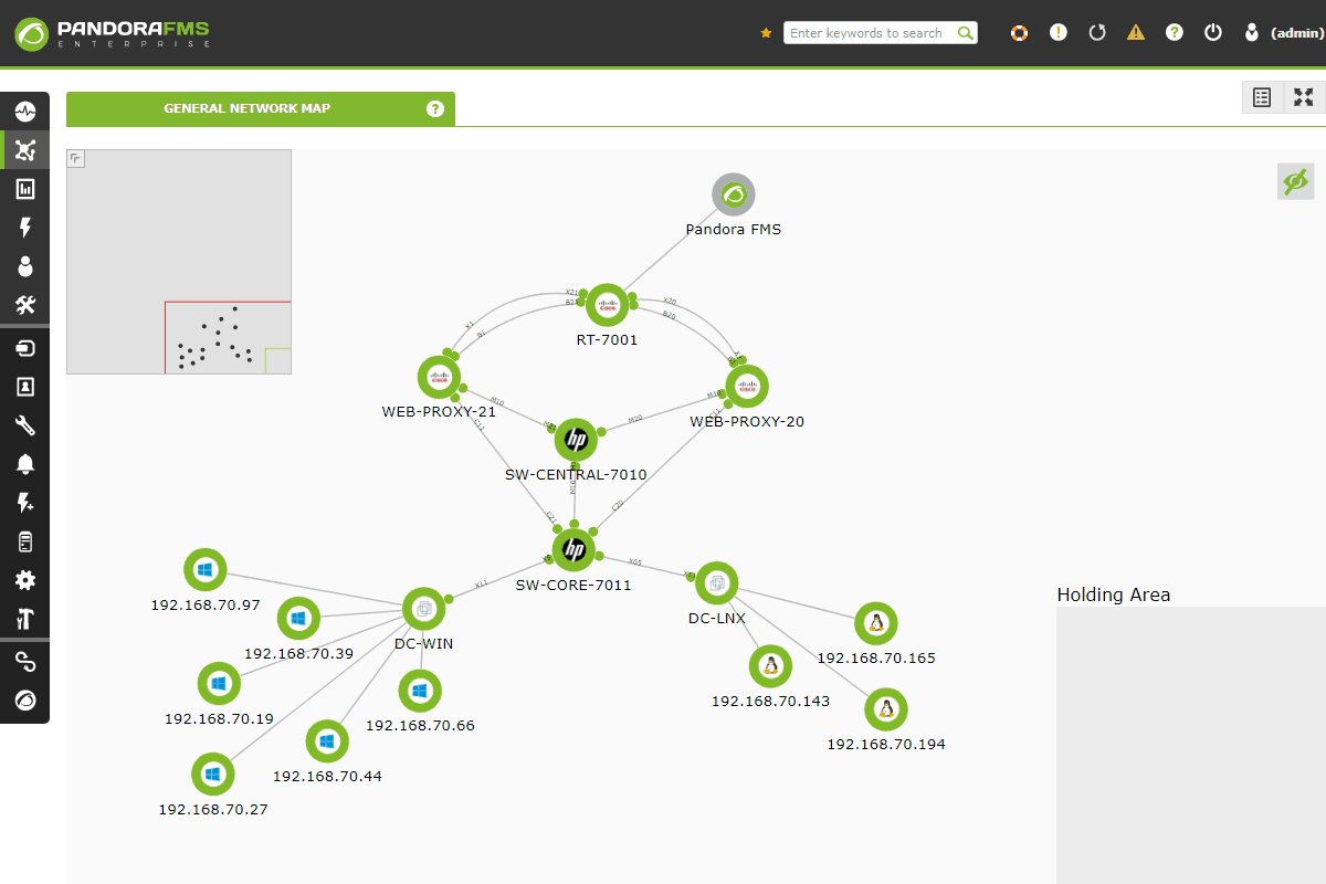 Network mapper screenshot pandora fms 3