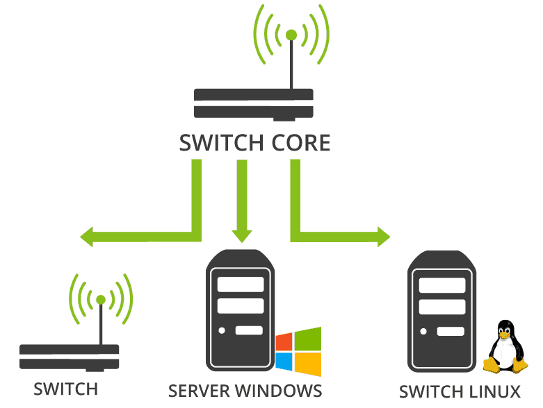 network mapper pandora fms switch core