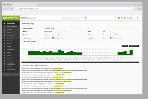 monitorizacion de aplicaciones visor de logs informes personalizados