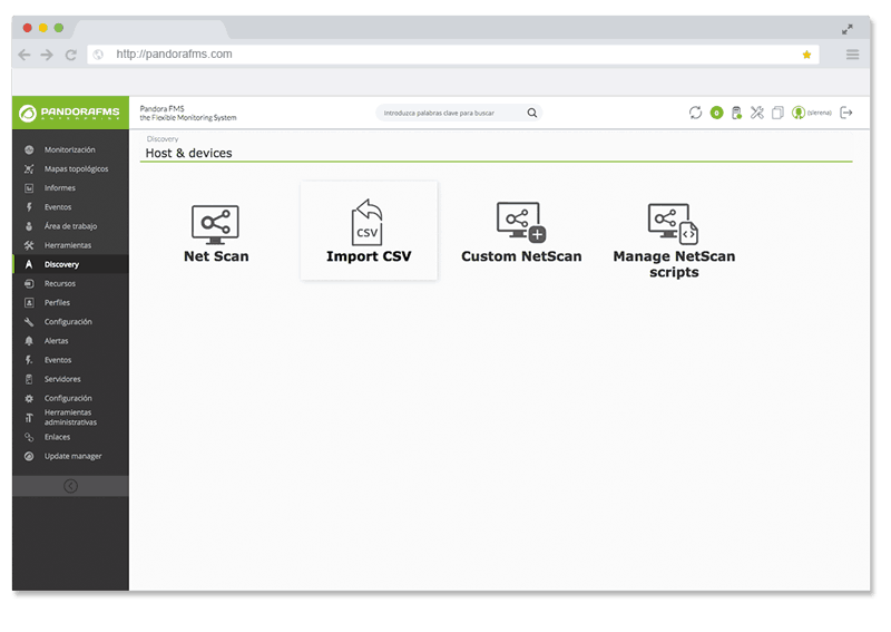 monitorizacion de aplicaciones pandora fms discovery
