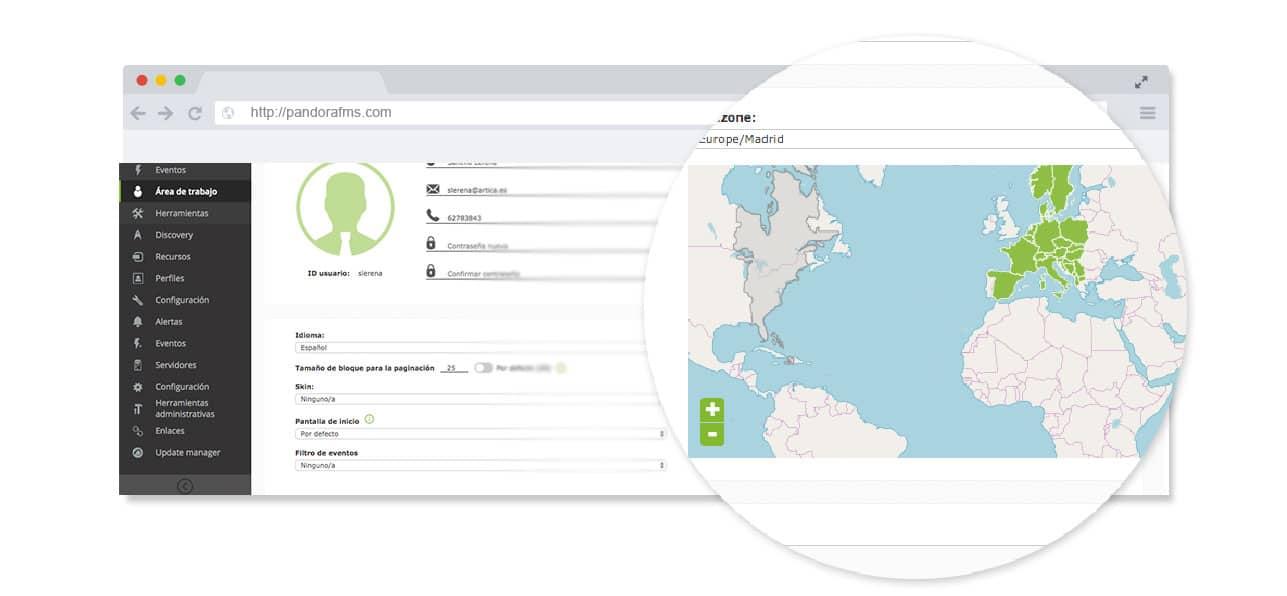 monitorizacion de experiencia de usuario zoom mapa