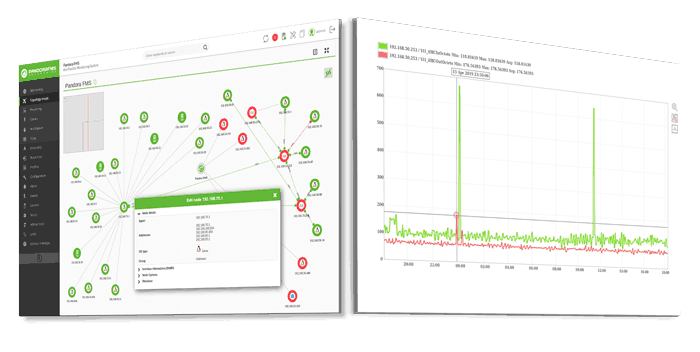monitorizacion de red: capturas pandora fms mockup