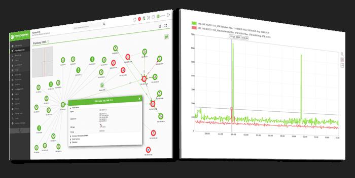 capture d'écran de la surveillance du réseau caractéristiques de base pandora fms