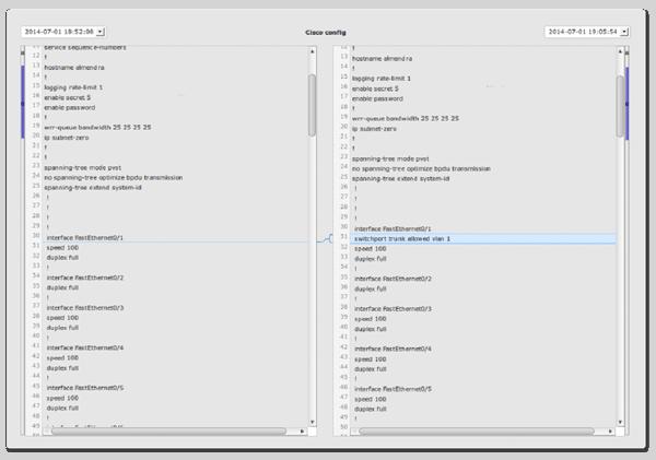 Sistema de detección de cambios de configuración TI en el inventario