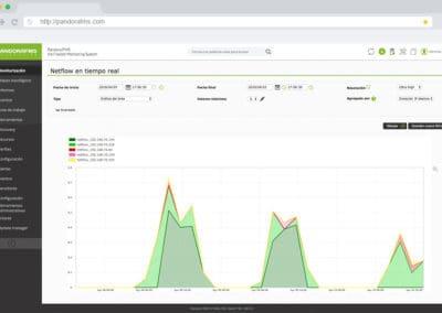 netflow timeline pandora fms