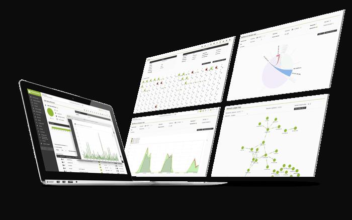 mockup dashboard desarrollo de interfaz usable y visual de pandora fms