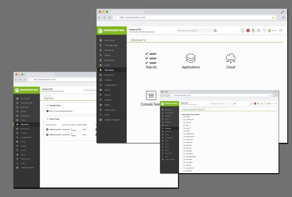 Monitoreo de aplicaciones con Pandora FMS pantallas de aplicaciones cloud
